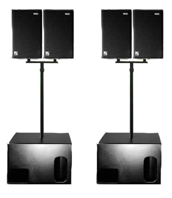 Sound System Hire - NEXO PS10 & LS500 Package