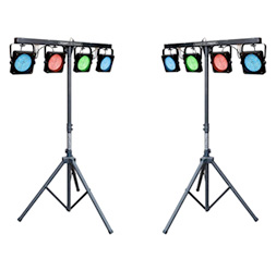 Stage and Lighting - LED Spots on Stands Rental
