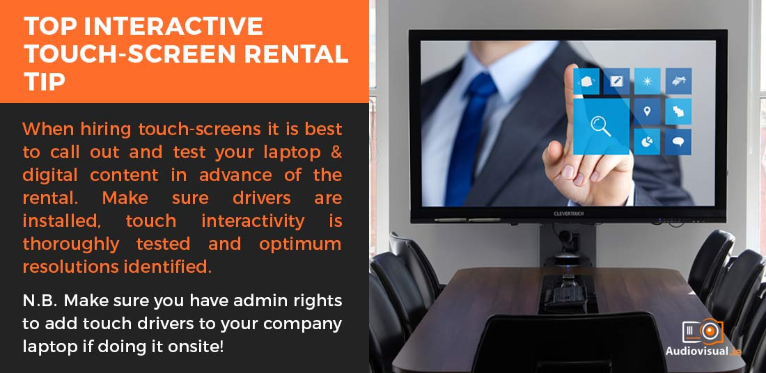 Interactive Touch screen rental advice