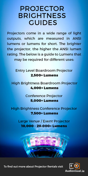 Lumens for projectors - Audio Visual Guide