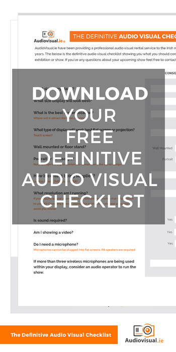 The Definitive Audio visual Checklist - Free Download