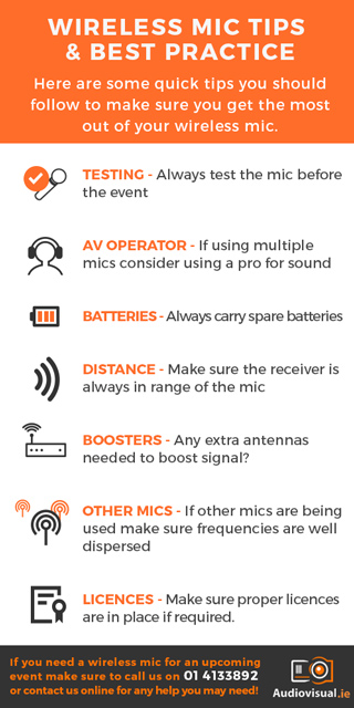 Wireless Mic Tips & Best Practice - Audio Visual Rental Dublin