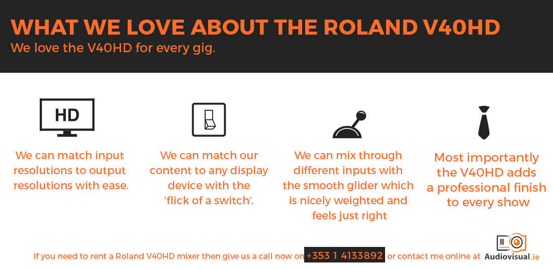 What We Love About the Roland V40HD - Audio Visual Rental Dublin