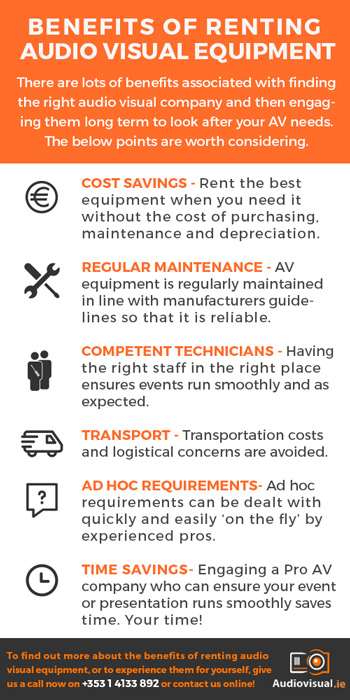 Benefits of Renting Audio Visual Equipment - AV Rental Dublin
