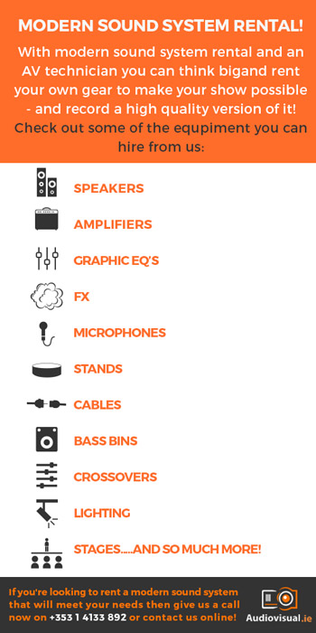 Modern Sound System Rental - Sound System Hire Dublin