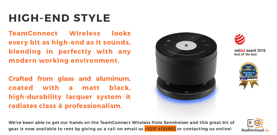 TeamConnect Wireless from Sennheiser Style - Audio Visual Rental Dublin
