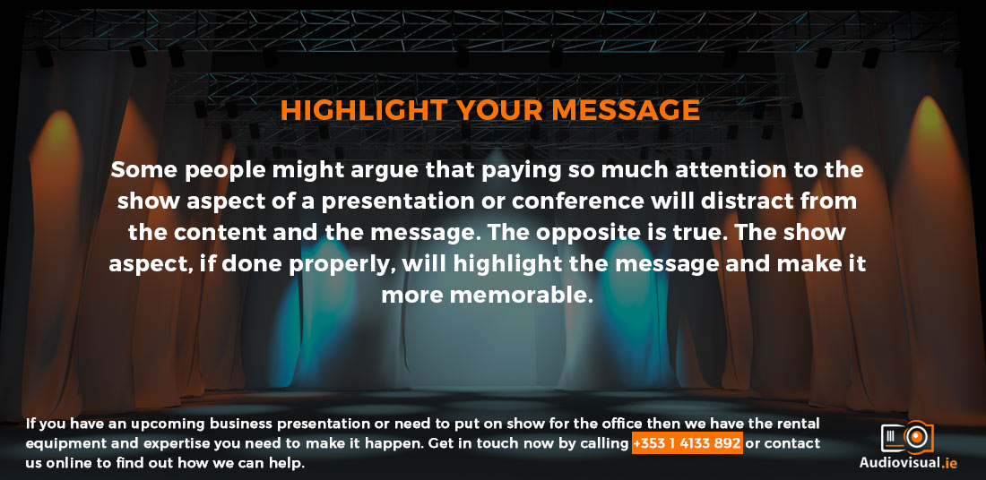 Highlight Your Message with AV Technology