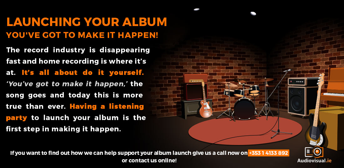 Launching Your Album - AV Rental for Album Launches