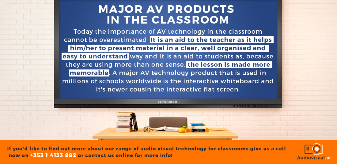 AV Technology In The Classroom - Interactive Flat Screens