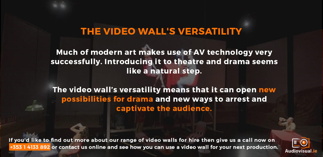 Video Wall for Theatres - Video Wall Rental