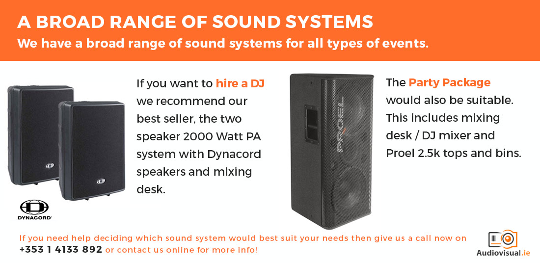 Dynacord and Proel PA System Rental