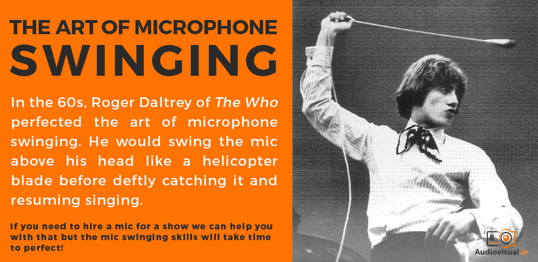 The Art Of Swinging The Microphone - Roger Daltry - Audio Visual Rental