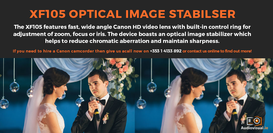 Canon XF105 Camcorder - Image Stabiliser - Camcorder Rental