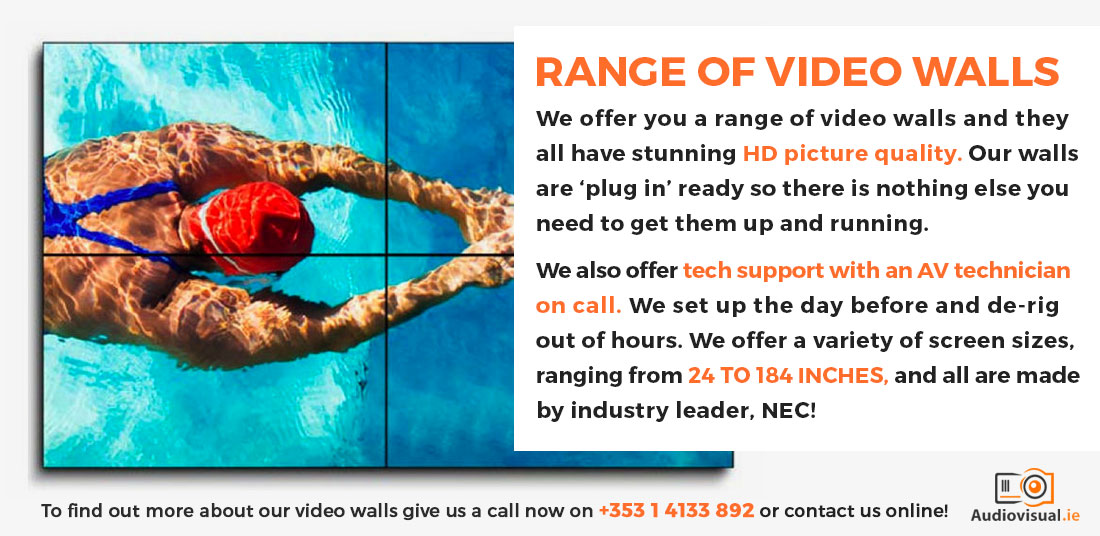 Range of Video Walls - Audio Visual Dublin