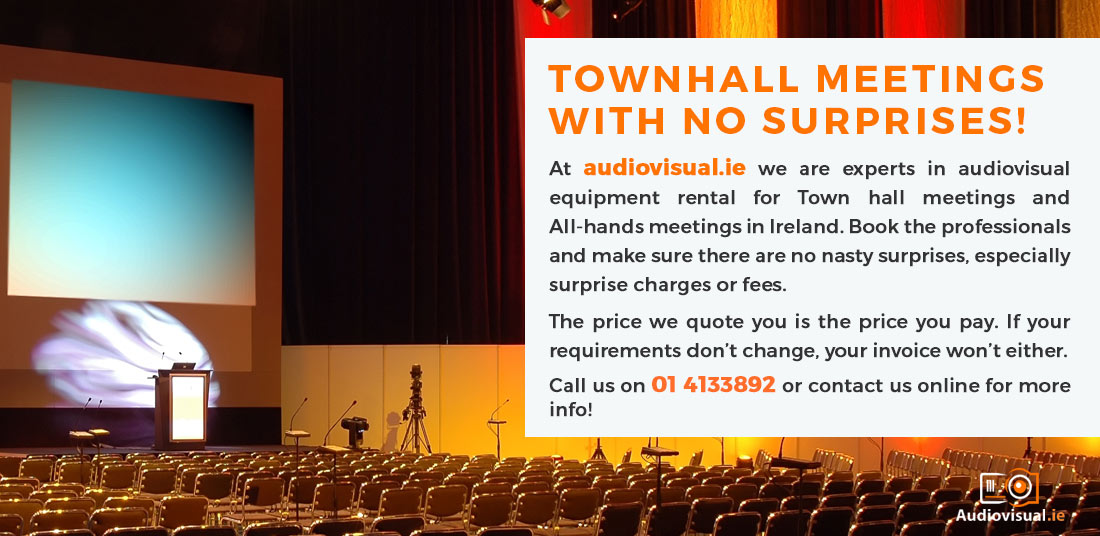 Renting AV Equipment for Townhall Events - Audio Visual for Townhalls