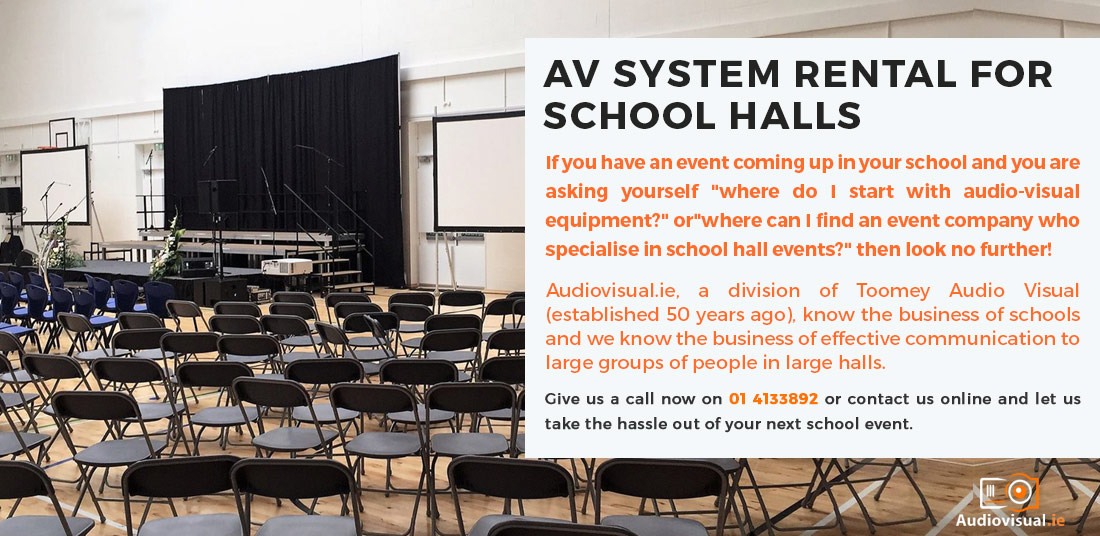 AV Rental for Schools - Audio Visual Ireland