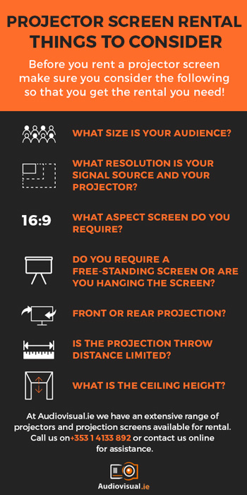 Projector Screen Rental Tips and Things to Consider - Audio Visual Rental