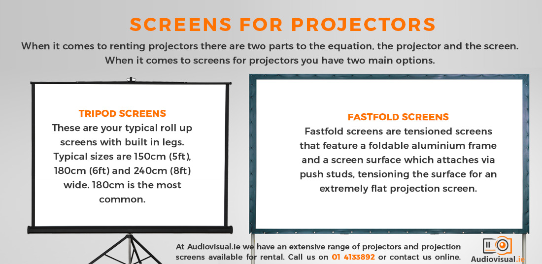 Screens for Projectors - Fastfold and Tripod Projector Screens