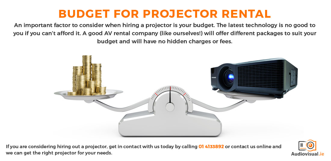 Budget for Projector Rental - Audiovisual Hire Ireland