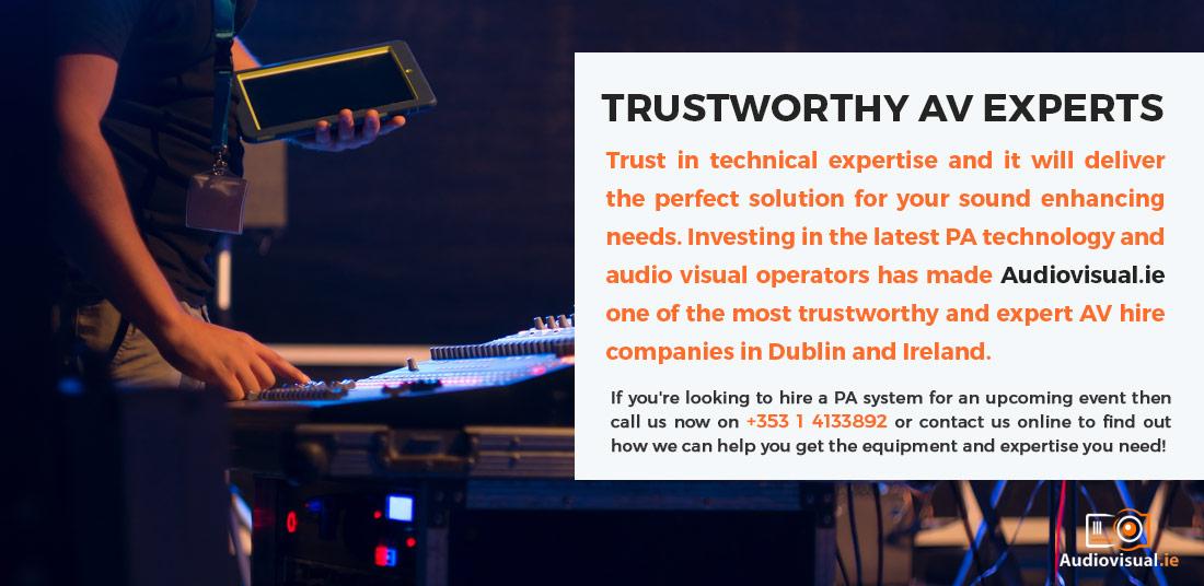 Trustworthy AV Experts - PA System Rental Ireland