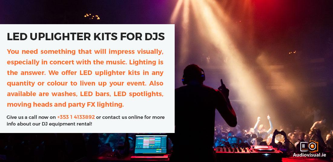LED Uplighter Kits for DJs