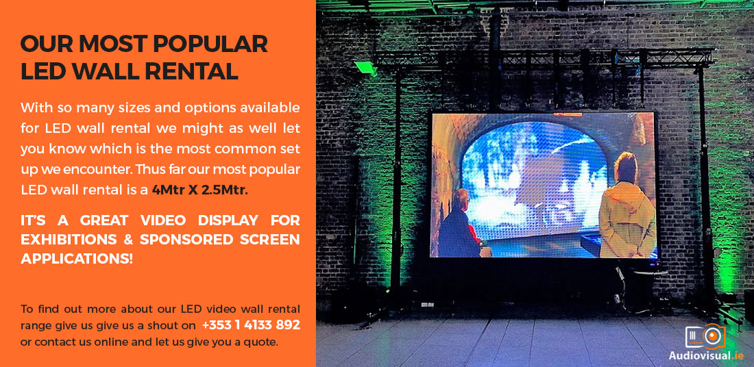 Popular LED Video Wall Rental Ireland