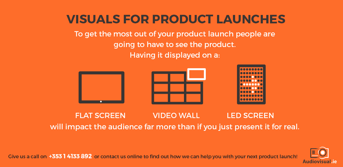 Visuals for Product Launches - Audio Visual Rental
