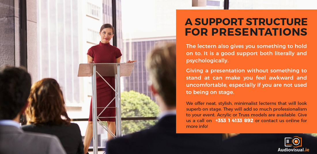 Lectern Rental for Presentations