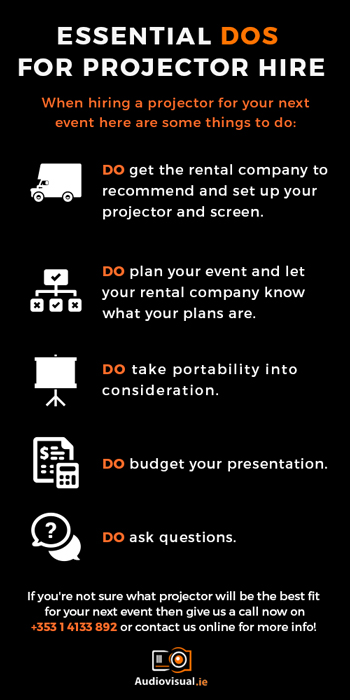 Projector Hire Guidelines