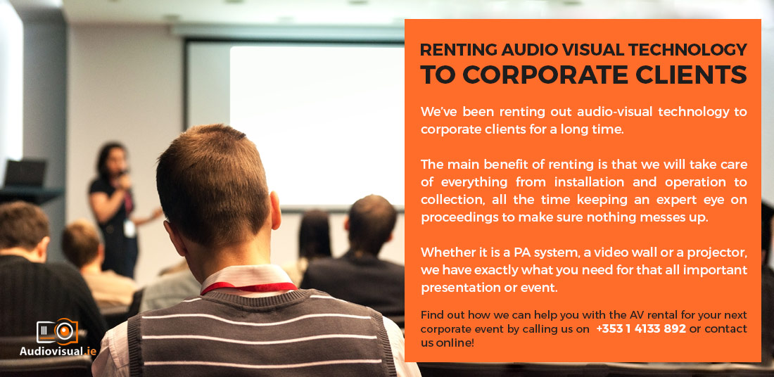 Audio Visual Rental for Corporate Clients