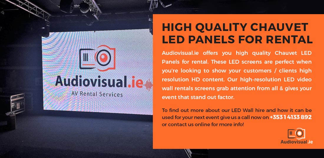 Chauvet LED Panels For Rental - Corparate LED Wall Hire - Audio Visual Ireland