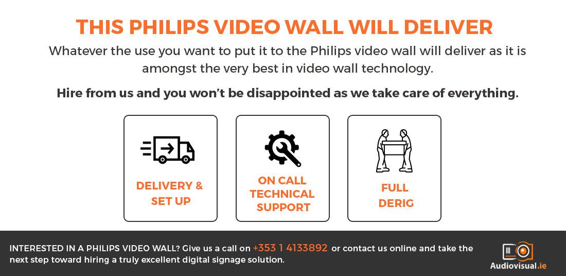 Philips Video Wall Rental Ireland - Audio Visual