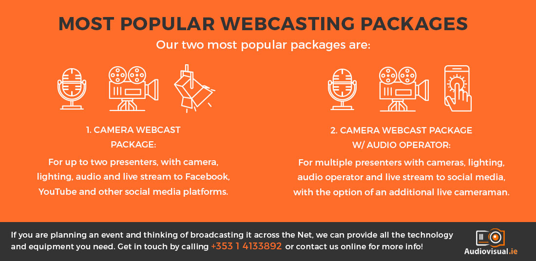 Webcasting Service Packages - Audiovisual Rental Dublin
