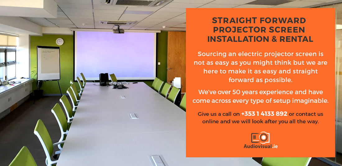 Electric Projector Screen Installation and Rental - Audiovisual Ireland