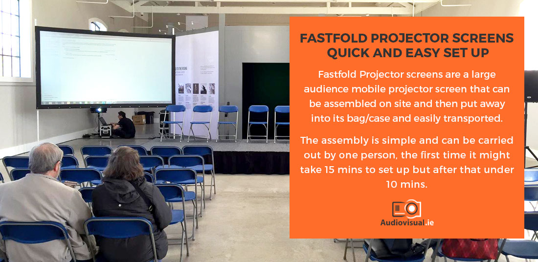 Fastfold Projector Screens - Quick and Easy Set Up - Audio Visual Rental Ireland