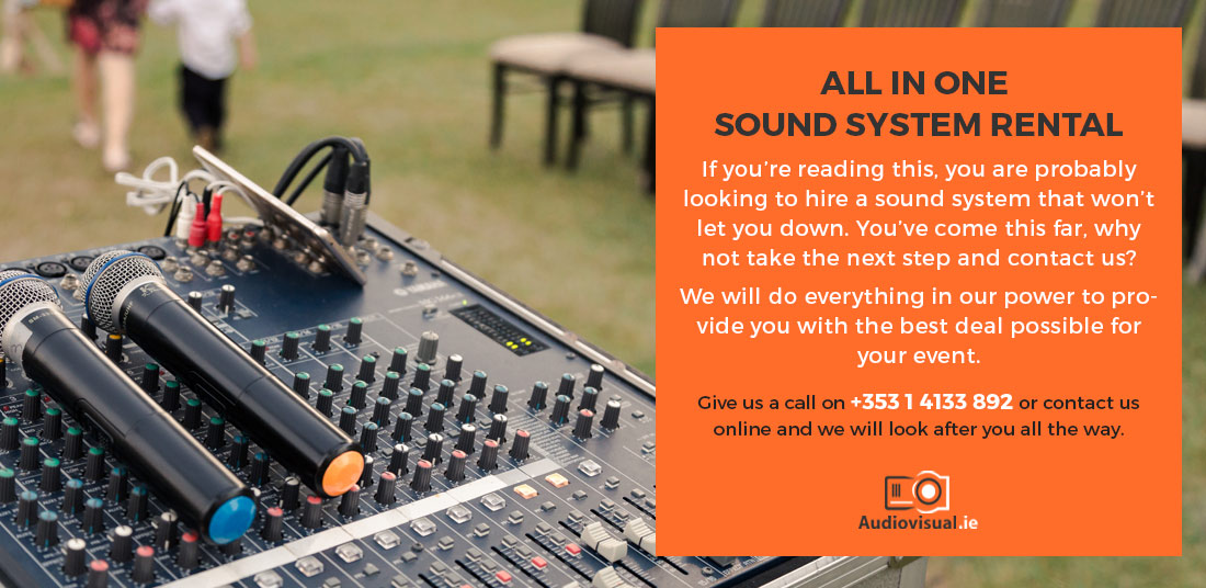 All In One Sound System Rental - Audio Visual Ireland