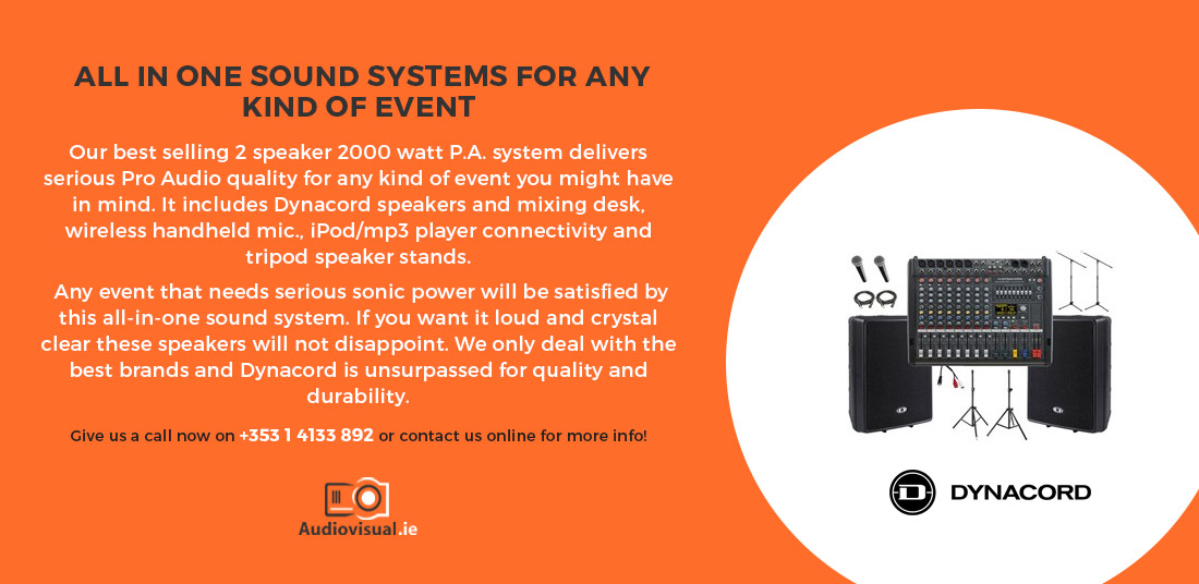 Dynacord All In One Sound System for Event - Audio Visual Rental