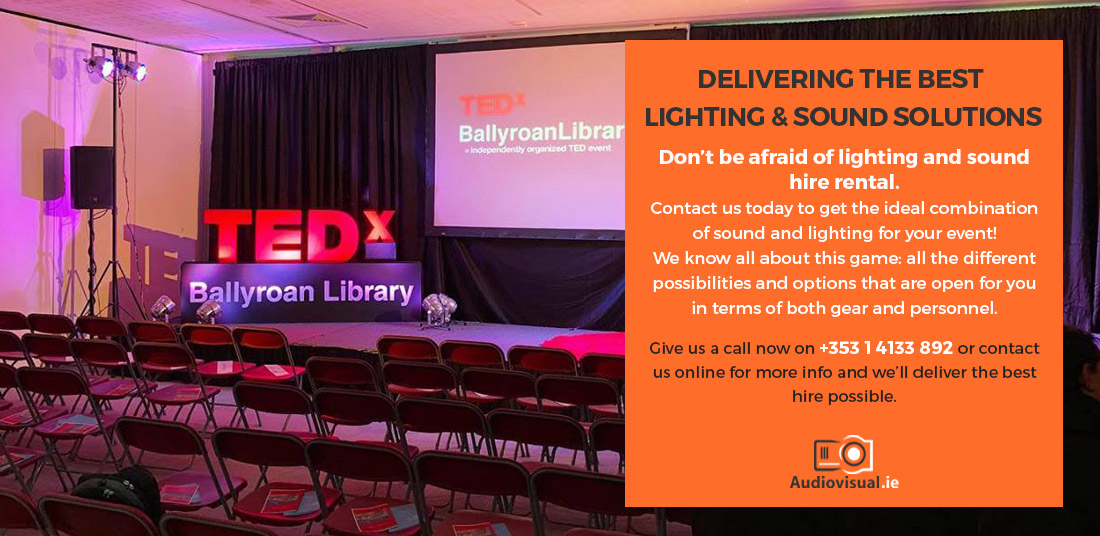 Lighting and Sound Solutions for Events - Audiovisual Rental Ireland