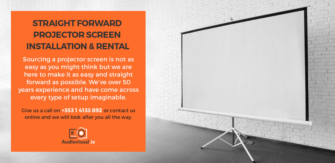 Manual Projector Screen Rental - Audiovisual Ireland