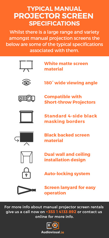 Manual Projector Screens Specifications - Audiovisual Dublin