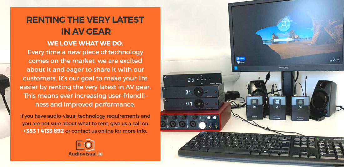 The Latest in AV Gear - AV Rental Dublin