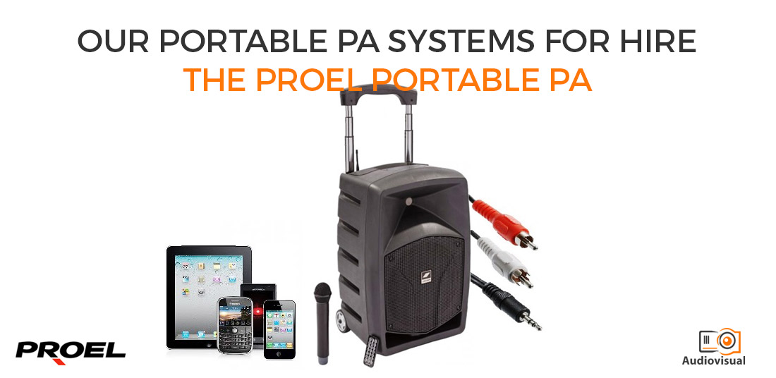 Portable PA Systems for Hire - Proel - Audiovisual Dublin