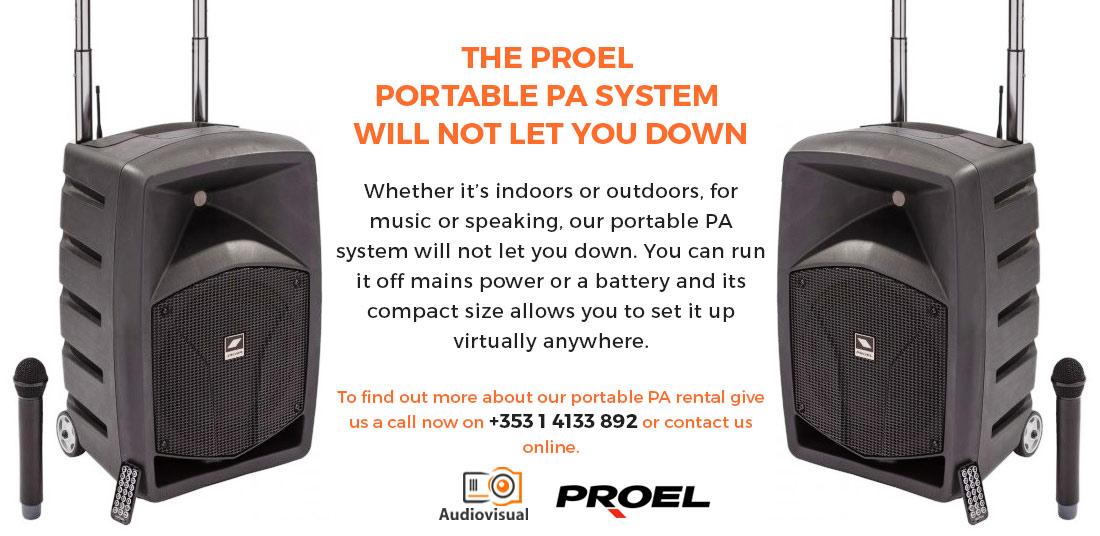 Portable PA for Hire - Proel - Audiovisual Ireland