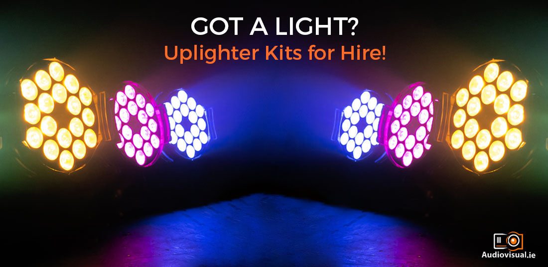 Uplighter Kits for Hire - Audiovisual Rental Ireland