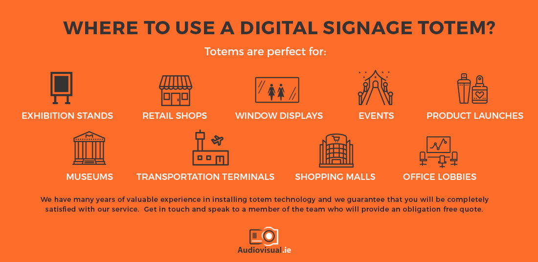 Digital Signage Totem Rental - Events - Audiovisual Ireland