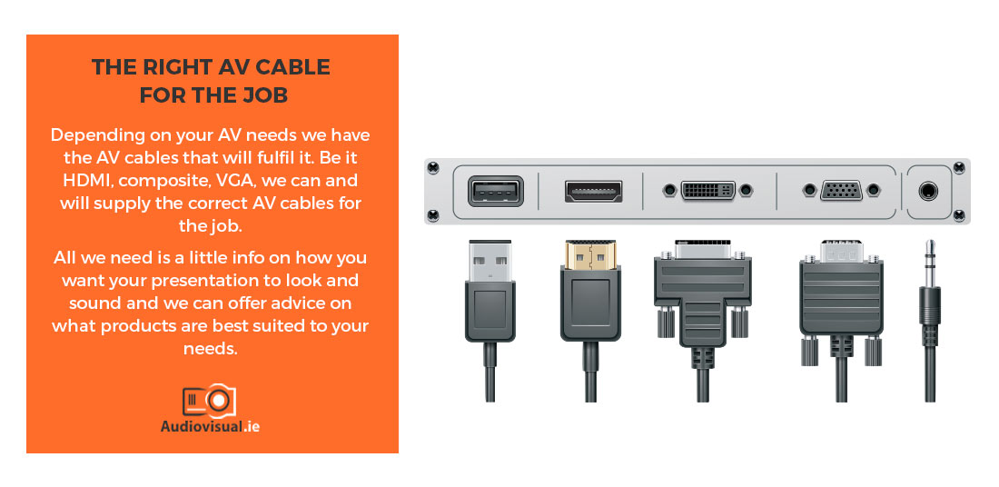 AV Cable Rental - VGA, HDMI, Composite - AV Hire Dublin