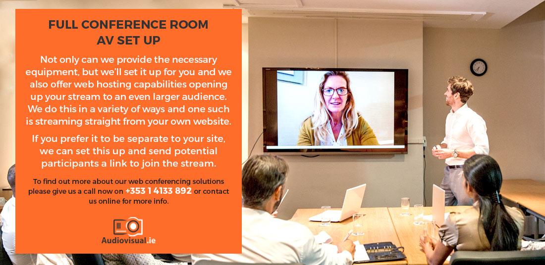 Full Conference Room AV Set Up - Hire Audiovisual Dublin