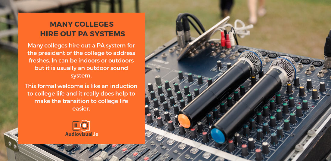 Hire Out PA Systems - College Events - Audiovisual Ireland