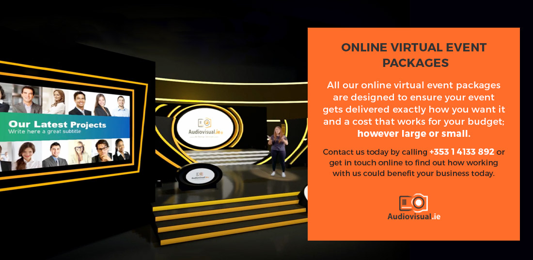 Online Virtual Event Packages - Audiovisual - Ireland