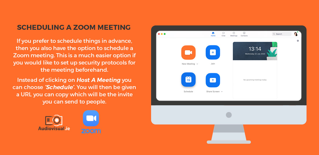 How to Schedule a Meeting with Zoom - Audiovisual Rental Ireland